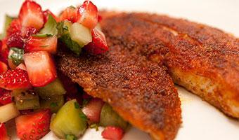 Blackened Fish with Strawberry Kiwi Salsa-thumb