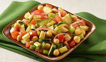 Chickpea Salad with Tomatoes and Cucumber-thumb