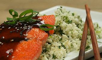Teriyaki Salmon with Cauliflower Rice-thumb
