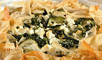 Vegetable and Goat Cheese Phyllo Pie-thumb