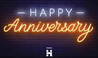 Anniversary Neon