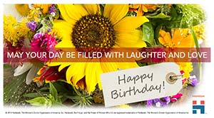 ecard birthday woman floral