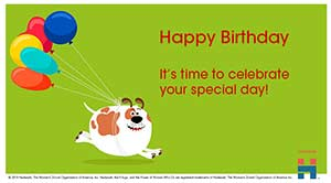 ecards birthday child dog